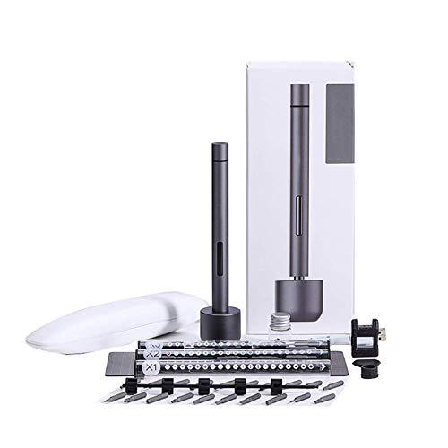 Gxklmg Juego De Destornillador Inalámbrico, Mini Kit De Reparación, LED De Larga Duración De Batería Recargable De 3,7 V/Modo De Alimentación Dual, con 56 bits