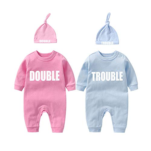 Twins Bodysuits Funny Double Trouble