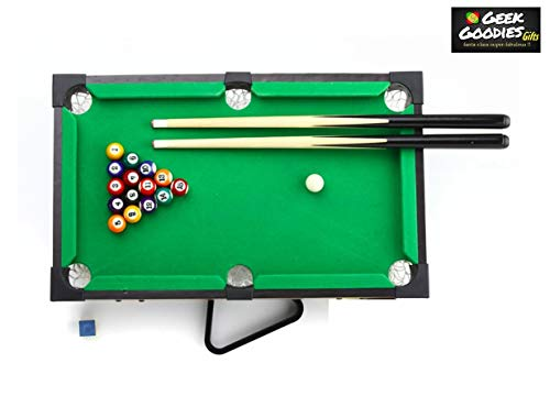 GeekGoodies Poolball Mini Pool Billiards Game Table for Kids and Adults