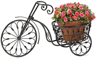 Maximumstore 13185 Nostalgic Iron Planter with 10 Inch Basket New Bicycle Plant Stand