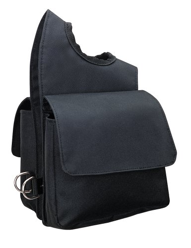 Weaver Leather Nylon-Bommeltasche, schwarz, 6 x 7.5 x 2.5
