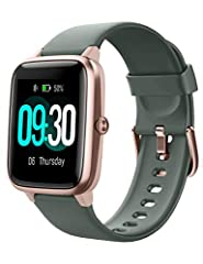Willful Smartwatch,1.3 pouces Écran couleur tactile Fitness Montre-bracelet avec pulsation Tracker IP68 Imperméable Montre sport Smart Watch avec podomètre,Moniteur de sommeil,Chronomètre pour hommes