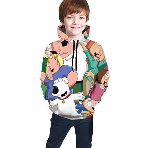 maichengxuan Family Guy Novelty Boys Hoodie Sweatshirts Fashion for Teens Black