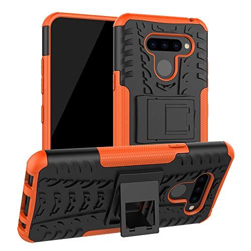 Labanema LG Q60 /LG K50 Hülle, Abdeckung Cover schutzhülle Tough Strong Rugged Shock Proof Heavy Duty Hülle Für LG Q60 /LG K50 - Orange