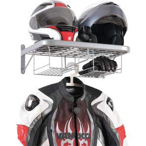 Motorrad-Helm mit Kleiderschrank und Wandhalterung, Biker-Jacke, Rack für Garage Box Officina Motorrad