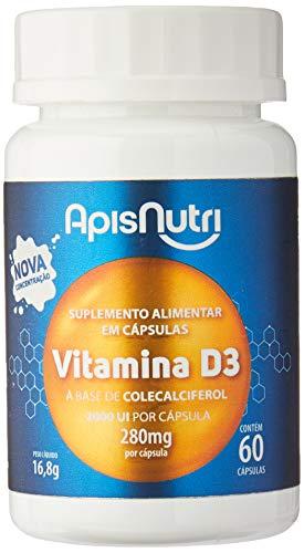 Apisnutri Suplemento de Vitamina D3, 60 Capsulas