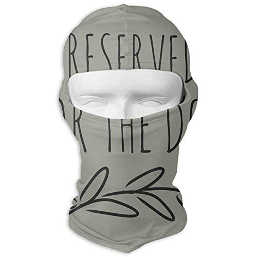 Army-Z Reserved for The Dog Full Face Face Scarf Hood Sunscreen Face Scarf Cycling Hunting Hiking Skiing Face Scarf Dual Layer Cold for Men and Women