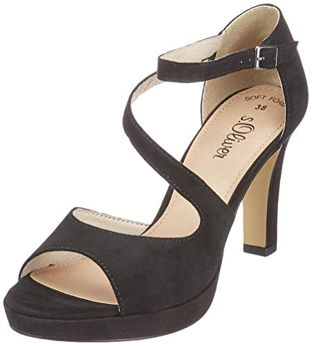 s.Oliver Damen 5-5-28323-22 001 Peeptoe Pumps, Black, 41 EU