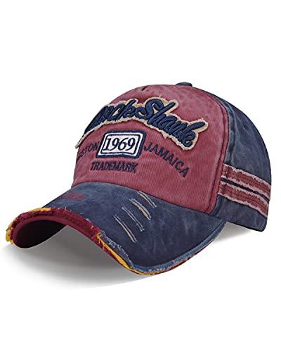 LIVACASA Cappello da Baseball Donna Uomo Berretto Sport con Visiera Estivo Regolabile Sportiva Esterno
