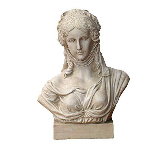 Hermosa Escultura de Diosa Griega, Escultura de decoración de jardín, Estatua de Arte, Accesorios de decoración de Busto de Diosa H22,4 Pulgadas
