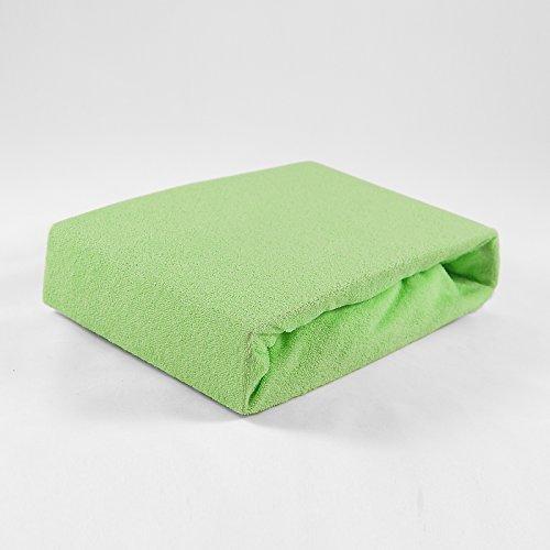 Badstof hoeslaken, 70 x 140 cm, groen, laken, bedlaken, babybed, hoeslaken, laken