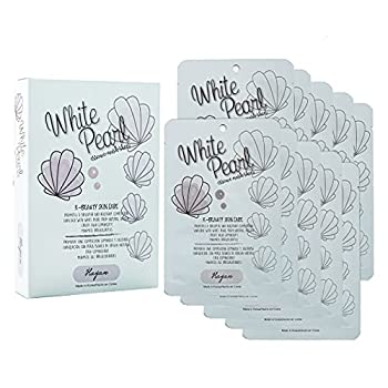 White Pearl Sheet Mask | Hayan K Beauty Skin Care Face Masks | Moisturizing Soothing Brightening Refreshing Facial Mask - 10 Pieces