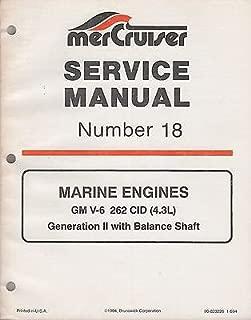 1995 MERCRUISER # 18 MARINE ENGINES GM V-6 SERVICE MANUAL 90-823226 (377)