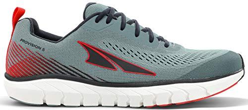 ALTRA Men's AL0A4VQJ Provision 5 Road Running Shoe, Light Gray/Red - 12 M US