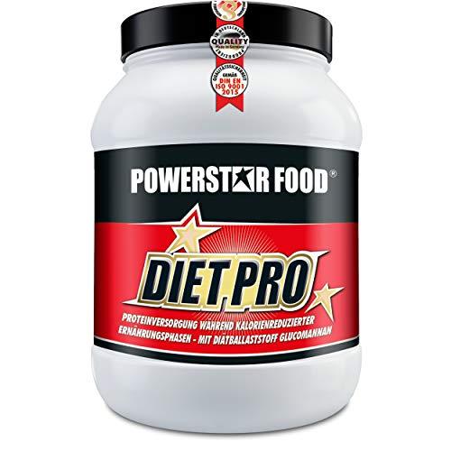 DIÄT EIWEIß SHAKE - Diätprotein Pulver als proteinreicher Abnehmen Shake für eine Eiweiß Diät ohne Muskelverlust - sättigender Eiweissshake - weniger Hunger - mit Glucomannan, Tyrosin und Carnitin - (Vanilla)