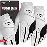 Callaway 2019 Men's Weather Spann Golf Glove, White, X-Large, Left Hand (for the Right Handed Golfer)