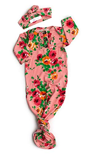 Neugeborenes Säugling Baby Floral Swaddle Decke Wrap Schlafsack Schlafsäcke 0-6M (A, M)