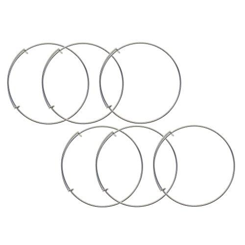 D DOLITY 6 pulseras de latón ajustables con alambre, joyas para dama de honor