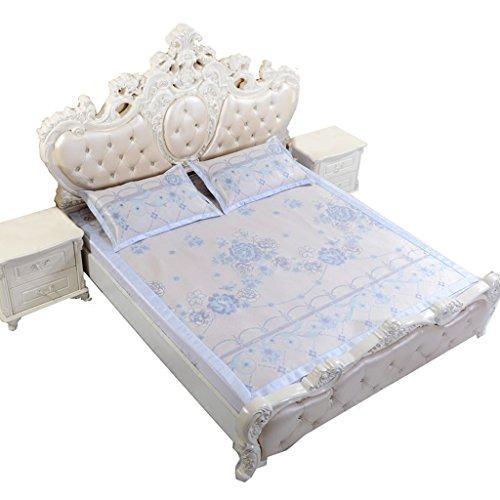 Tapis en Soie de Glace Tapis de Trois pièces 1.8m lit 1.5 mètres Tapis d'air Pliable Tapis d'air Frais de Tapis d'été Confortable et Doux Xuan - Worth Having (Couleur : 150 * 195cm)