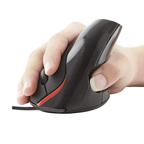 OENLY Ratón ergonómico con Cable Vertical, Mouse óptico USB para computadora Ratón óptico de Alta precisión 1600 dpi 5 Botones para Computadora,Reduce el Dolor de Brazo en la Mano