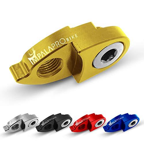 IMPALAPRO Bike Estensore del Gancio del Cambio o deragliatore Posteriore per Mountain Bike (MTB) e Strada Ultraleggero e Resistente, Grande Durata e Alta compatibilità con Shimano e SRAM (Oro)