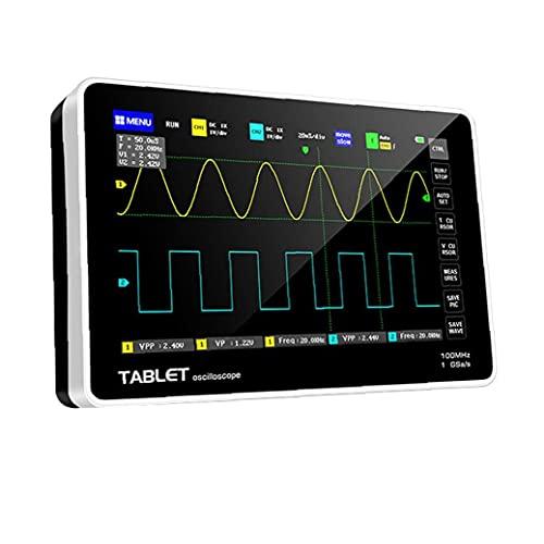 Osciloscopio digital 1013D con 2 canales LCD Pantalla táctil Black Host Muestreo de muestreo Reemplazo para el probador FNIRSI