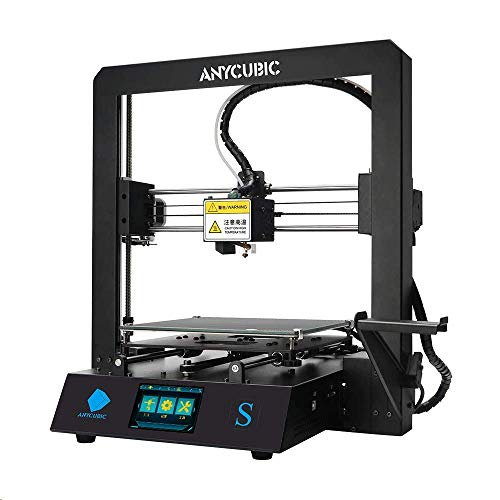 ANYCUBIC 3D Printer Mega S All Metal Frame and Updated Extruder, FDM DIY Printer Works, Free Test Filament with TPU/PLA/ABS 210x210x205mm
