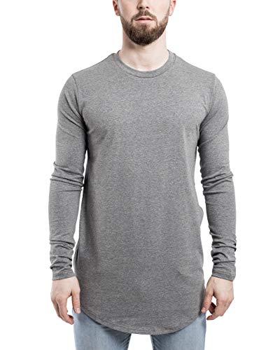 Blackskies Side Zip met lange mouwen T-shirt | Lange oversized fashion basic longsleeve Mannen shirt met lange shirt met lange thee met rits - diverse kleuren