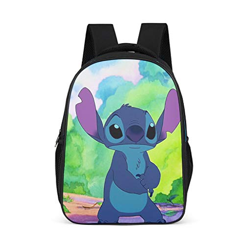 Stitch Women's&Men's Backpacks Boys Girls School Book Bags for College Laptop Bright Gray OneSize