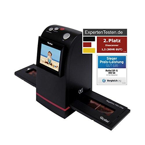 Rollei DF-S 190 SE - Dia-Film-Scanner mit 9 Megapixel und 2.4 Zoll Farb-TFT-LCD Display und umfangreichem Zubehör, für Speicherkarten bis zu 16GB - Schwarz