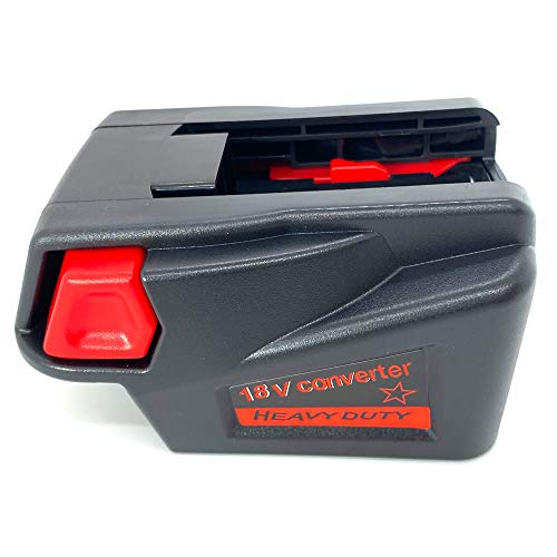 Battery Adapter Converter Compatible with Milwaukee M18 18V Li-ion Battery Convert to for Milwaukee V18 48-11-1830 Battery, 48-11-2200 48-11-2230 18V NI-CD Tool Battery Converter