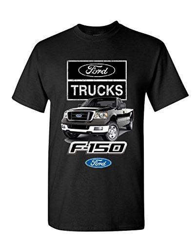 Ford Pickup Trucks F-150 T-Shirt Offroad Country Built Tough 4X4 Mens Tee Shirt Black XL
