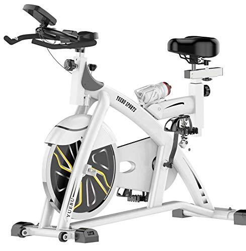 Lcyy-Bike Allenatori di Bicicletta Resistenza Magnetica 15 kg Volano Cardio Workout con Display Multifunzionale E Ammortizzatore A Molla Manubrio Regolabile E Altezza del Sedile