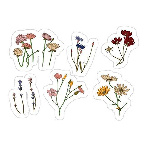DKISEE (3 piezas/paquete de pegatinas troqueladas para el jardín de flores para ordenador portátil, ventana, coche, parachoques, casco, botella de agua de 4 pulgadas