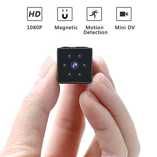 Muxan Mini-spionagecamera, verborgen, kleine bewakingscamera voor de veiligheid thuis, draadloos 1080p HD draagbaar met nachtzicht en bewegingsdetectie, opnemen van video buitenshuis