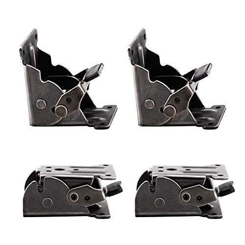 INCREWAY - Supporto pieghevole, 4 staffe pieghevoli in metallo a 90°, autobloccanti e staffe angolari con viti, per gambe pieghevoli, banco da lavoro, estensione per scrivania (bronzo nero)