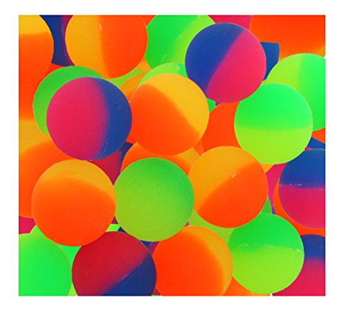 ICY Superballs for Kids Prizes - 1.5 Inches Bright Two Tone Bouncy...