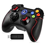 EasySMX Mandos PC, [Regalos Originales] 2.4G Mandos Inalámbricos PS3, Controlador PC, Gamepad PS3, Controller PC/PS3 Compatible con Windows XP y Vista/7/8 /8.1/10, PS3, Android y Operación hasta 10M