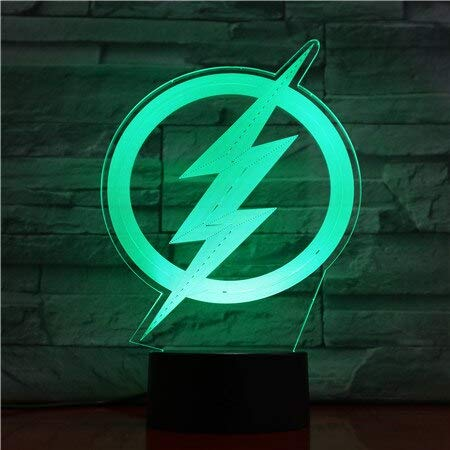 Jiushixw 3D acryl nachtlampje met afstandsbediening, tafellamp, kleurverandering, superman cartoon kinderen cadeau verjaardag nachtkastje glazen bol tafellamp