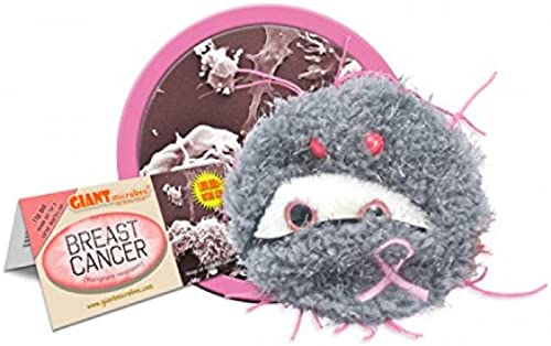 Giant Microbes S-PD-0104 Breast Cancer Plush Doll by Giant Microbes