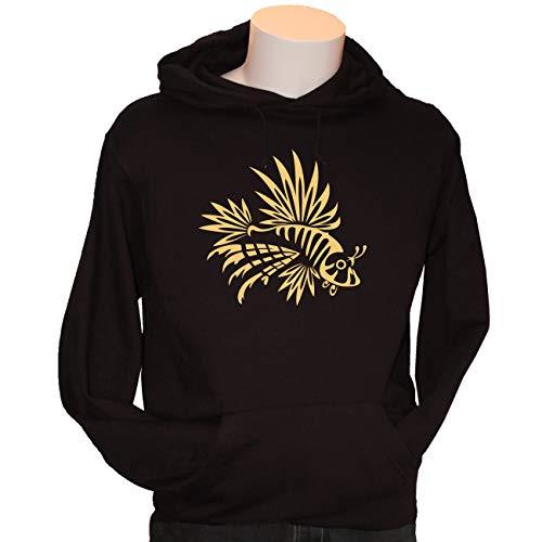 Kreativ-Shop! Taucher-Hoody TRIBAL - FEUERFISCH   Frontdruck   Größe: L   Folienfarbe: Gold