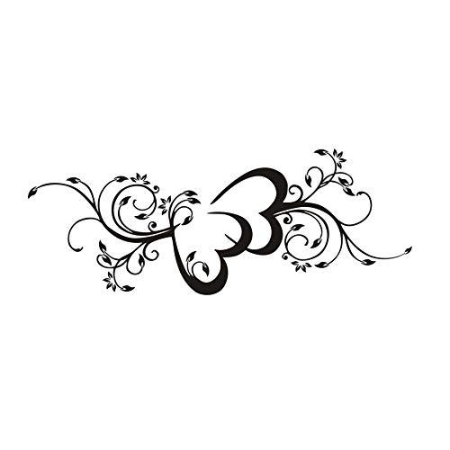 42x110cm, Pegatinas de pared, Pegatinas de dormitorio, Habitación de la casa de flores Double He, Tatuaje, Pegatinas, Decoración Imagen Pintura Habitación Apliques de pared Pegatinas para niños Mural