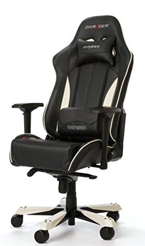 DXRacer Gaming Stuhl, OH/KS57/NW, K-Serie, schwarz-weiß, das Original von DX Racer