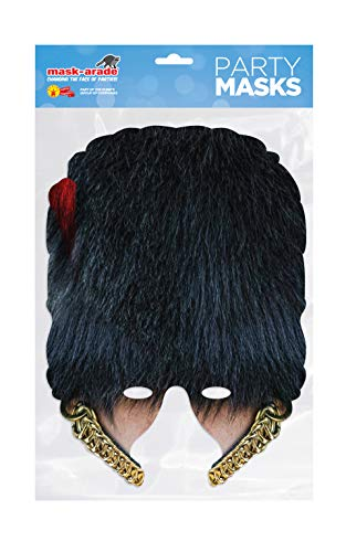 Coldstream Guard Bearskin Half Mask, Mask-arade Face Card Mask, Fancy Dress