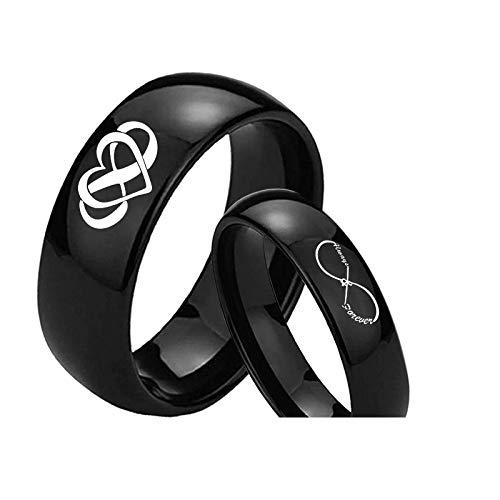 Ring mannen en vrouwen titanium staal creatief hart gevormde paar ring kostuum accessoires vakantie cadeau de perfecte gift No6 Heren
