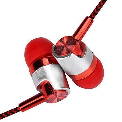 werw - Auriculares estéreo universales de 3,5 mm con micrófono para teléfono celular Samsung para Xiaomi para iPhone