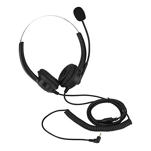 Tosuny Schnurloses Telefon Headset, Call Center Kopfhörer mit Noise Cancelling Mikrofon, geeignet für Computer, Telefon, Desktop-Box und andere Geräte (2,5-mm-Stecker)