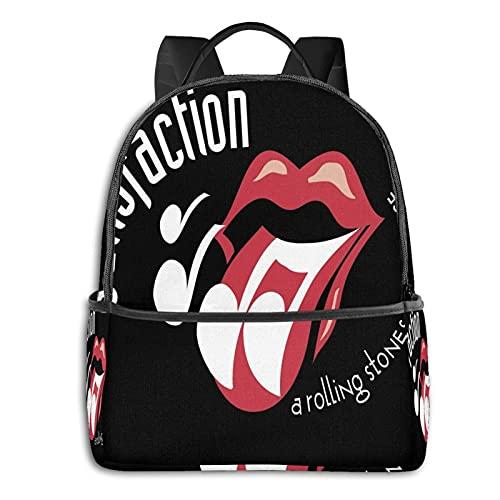 The Rolling Stones - Mochila para hombre y niña, mochila de viaje, mochila multifuncional, con impresión en D, resistente al agua, resistente al agua