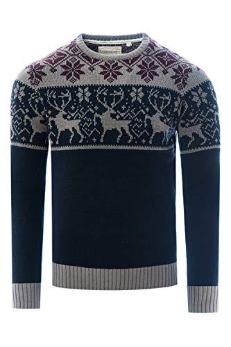 James Darby Herr nordisk hjort ren festlig jul jumper