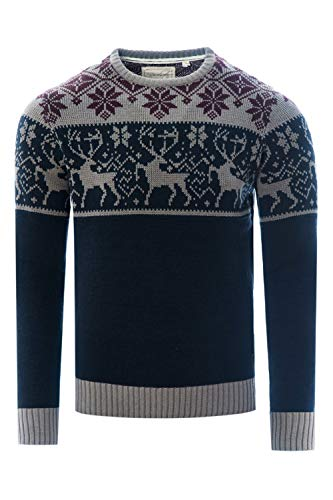 James Darby Mens Nordic Stag Festive Christmas Jumper -...